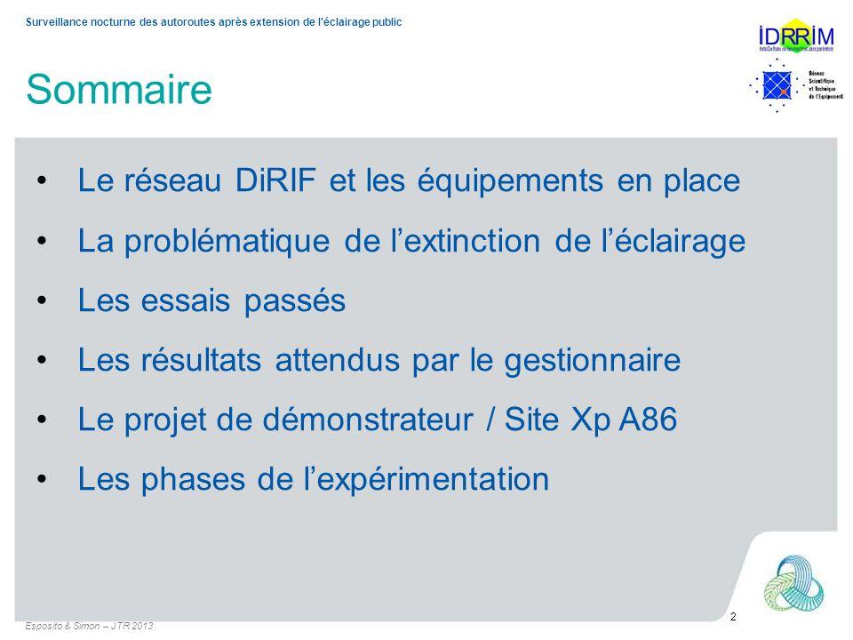 Sommaire • Le réseau DiRIF et les équipements en place