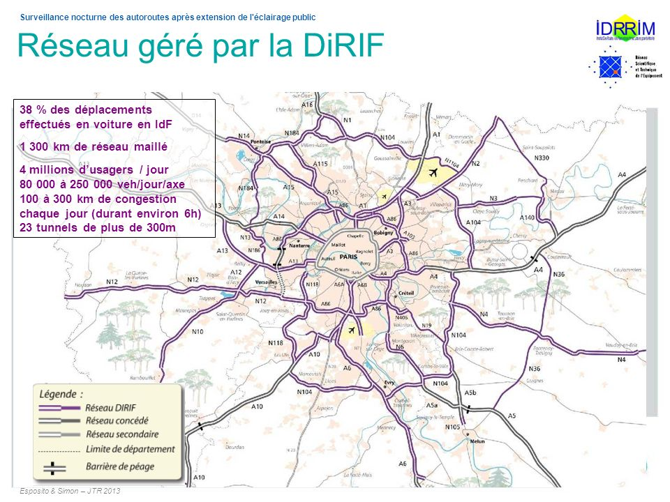 Réseau géré par la DiRIF