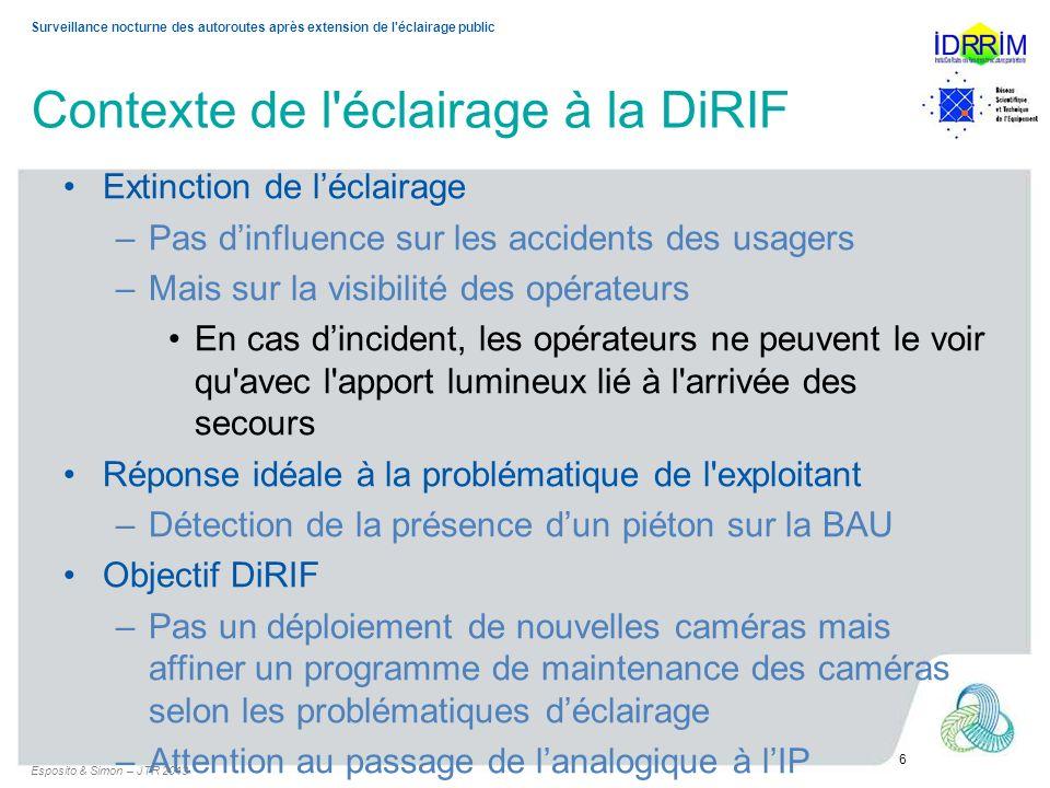 Contexte de l éclairage à la DiRIF