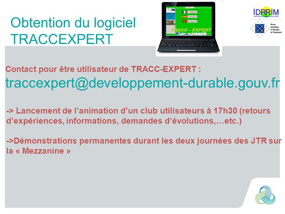 Obtention du logiciel TRACCEXPERT