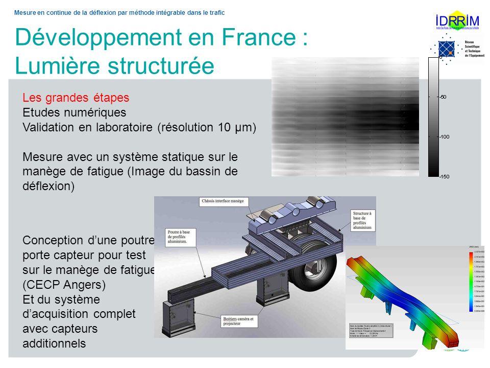 Développement en France : Lumière structurée