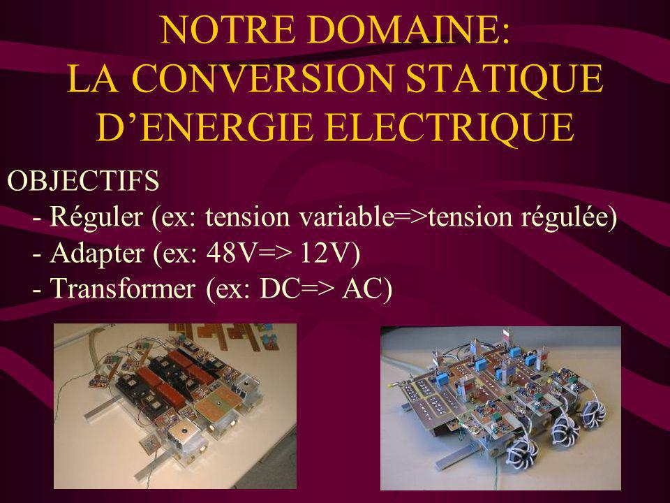 NOTRE DOMAINE: LA CONVERSION STATIQUE D'ENERGIE ELECTRIQUE