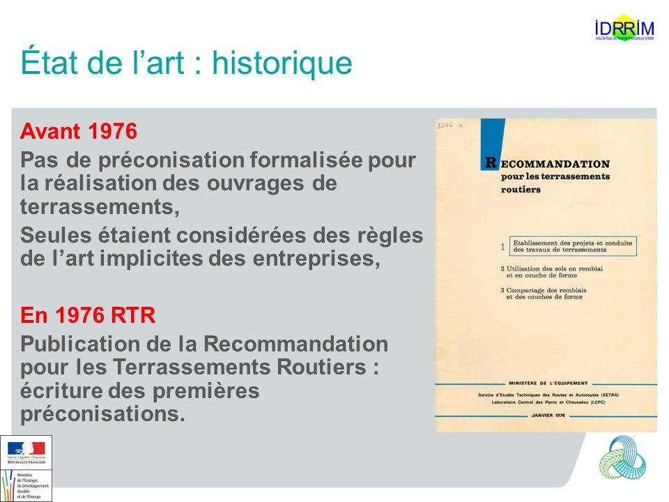 État de l'art : historique