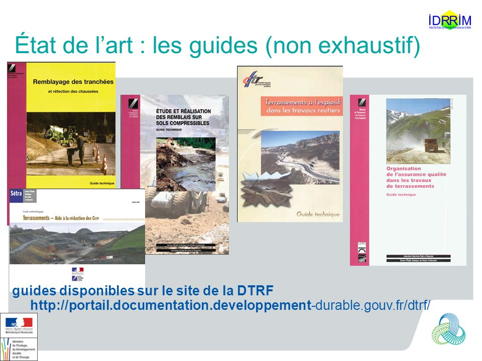 État de l'art : les guides (non exhaustif)