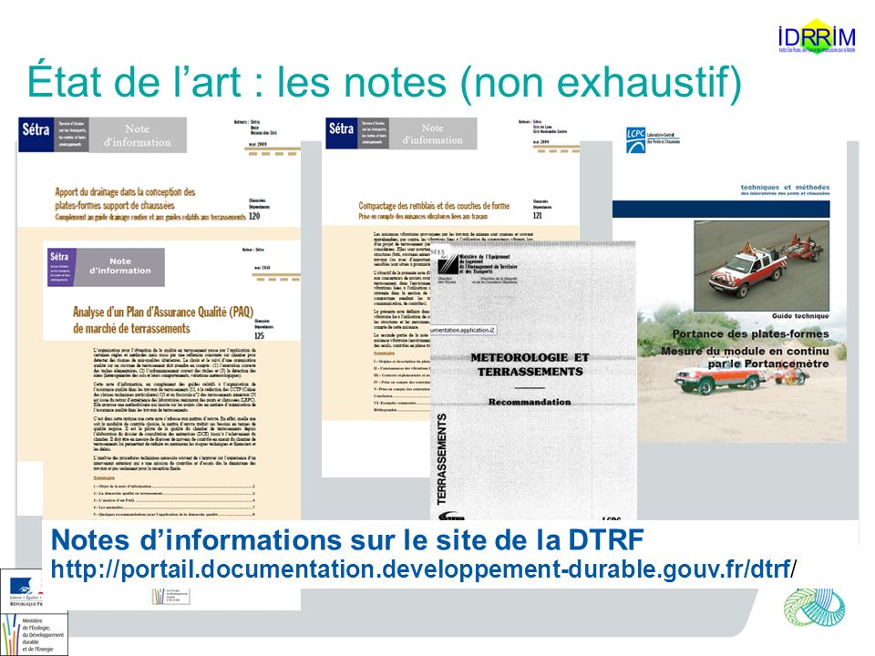 État de l'art : les notes (non exhaustif)