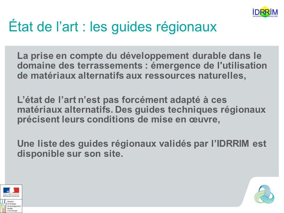 État de l'art : les guides régionaux