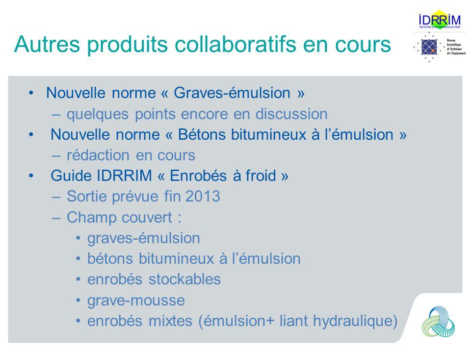 Autres produits collaboratifs en cours