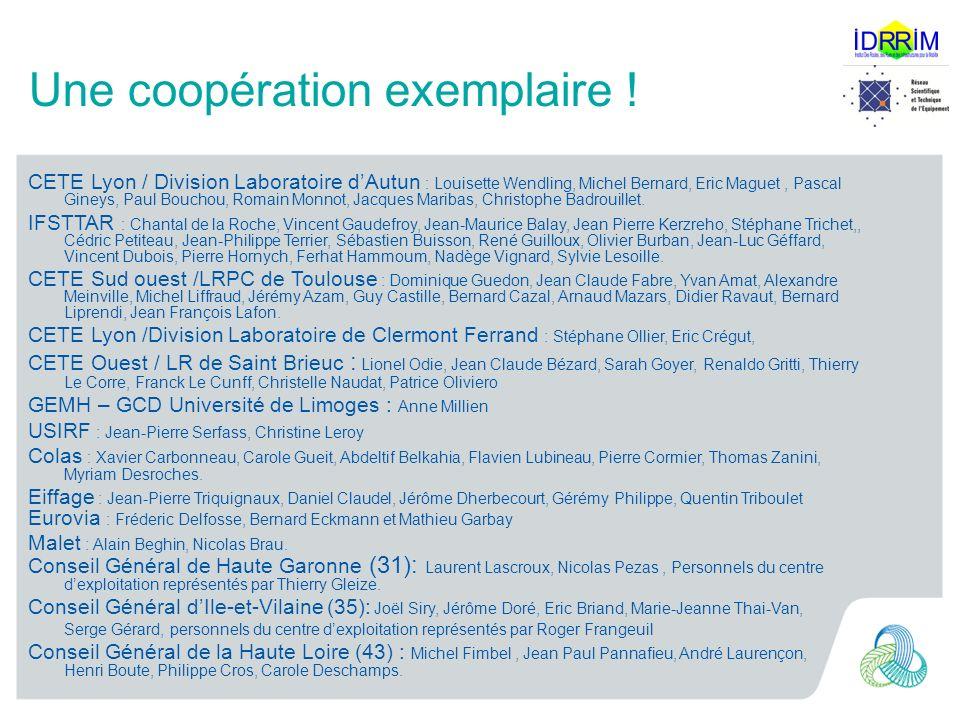 Une coopération exemplaire !