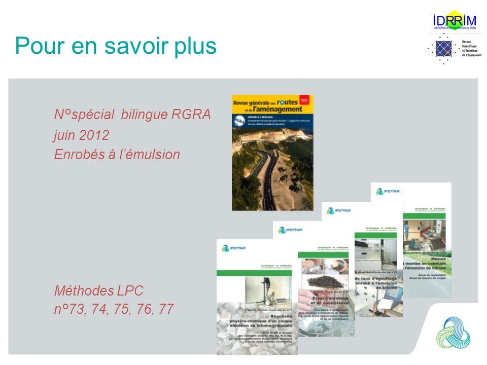 Pour en savoir plus N°spécial bilingue RGRA juin 2012