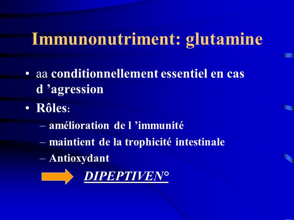 Immunonutriment: glutamine