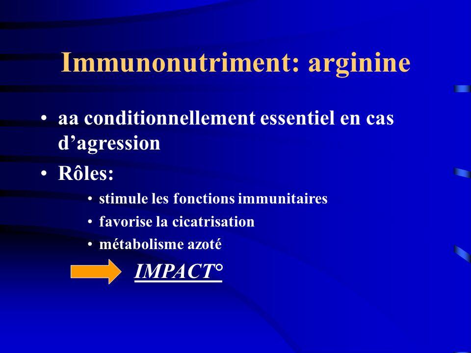 Immunonutriment: arginine