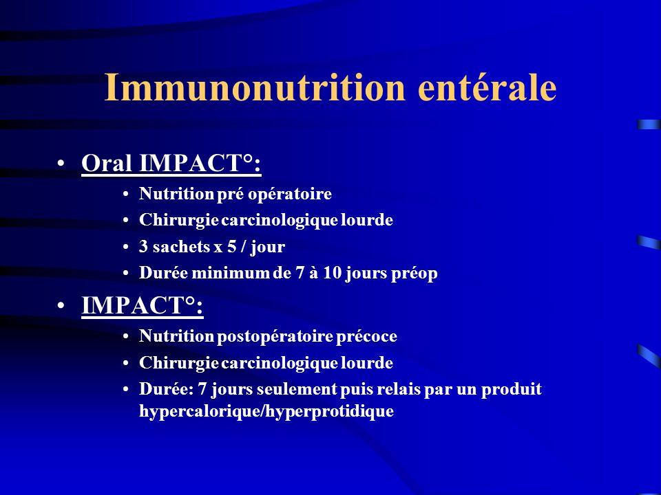 Immunonutrition entérale