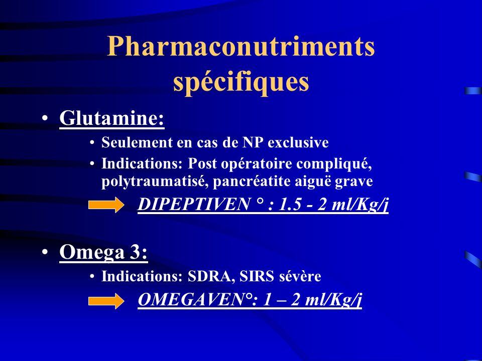 Pharmaconutriments spécifiques
