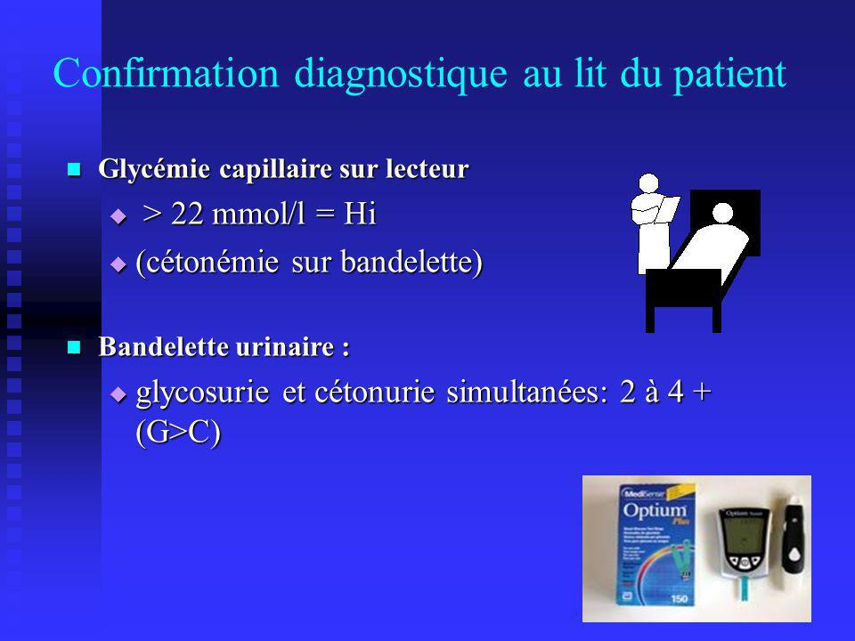 Confirmation diagnostique au lit du patient