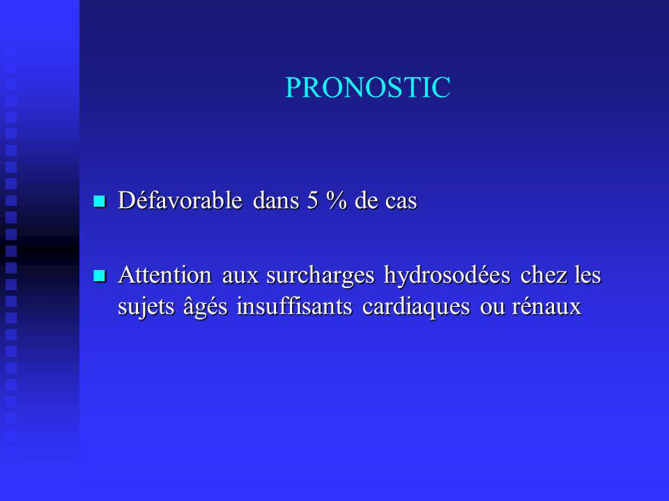 PRONOSTIC Défavorable dans 5 % de cas
