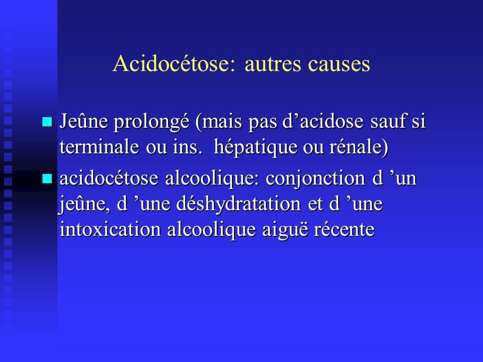 Acidocétose: autres causes