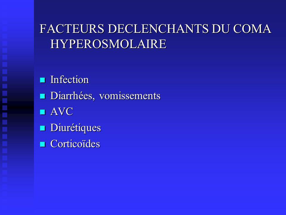 FACTEURS DECLENCHANTS DU COMA HYPEROSMOLAIRE