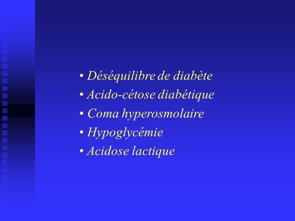 Déséquilibre de diabète