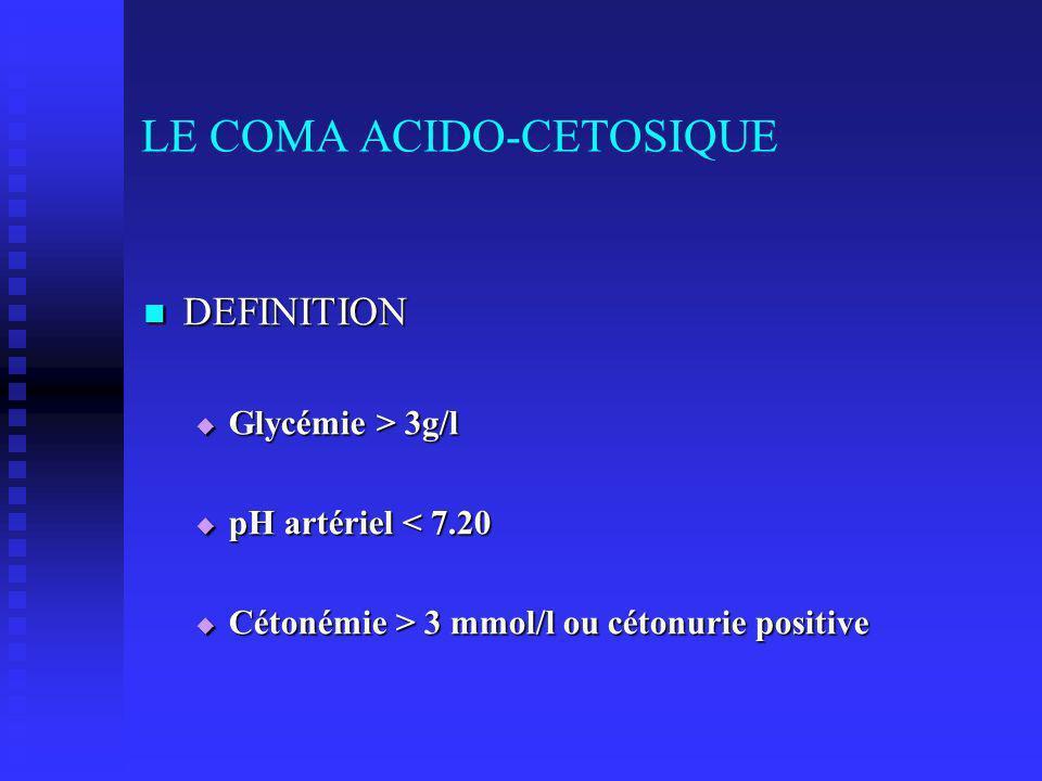 LE COMA ACIDO-CETOSIQUE