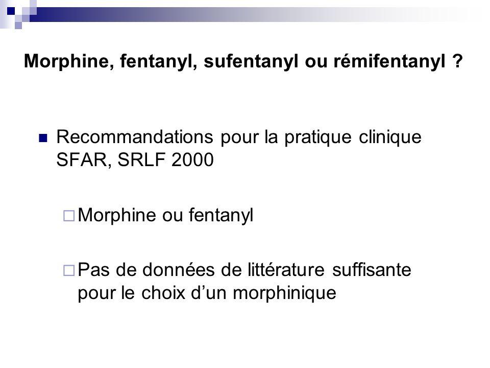Morphine, fentanyl, sufentanyl ou rémifentanyl