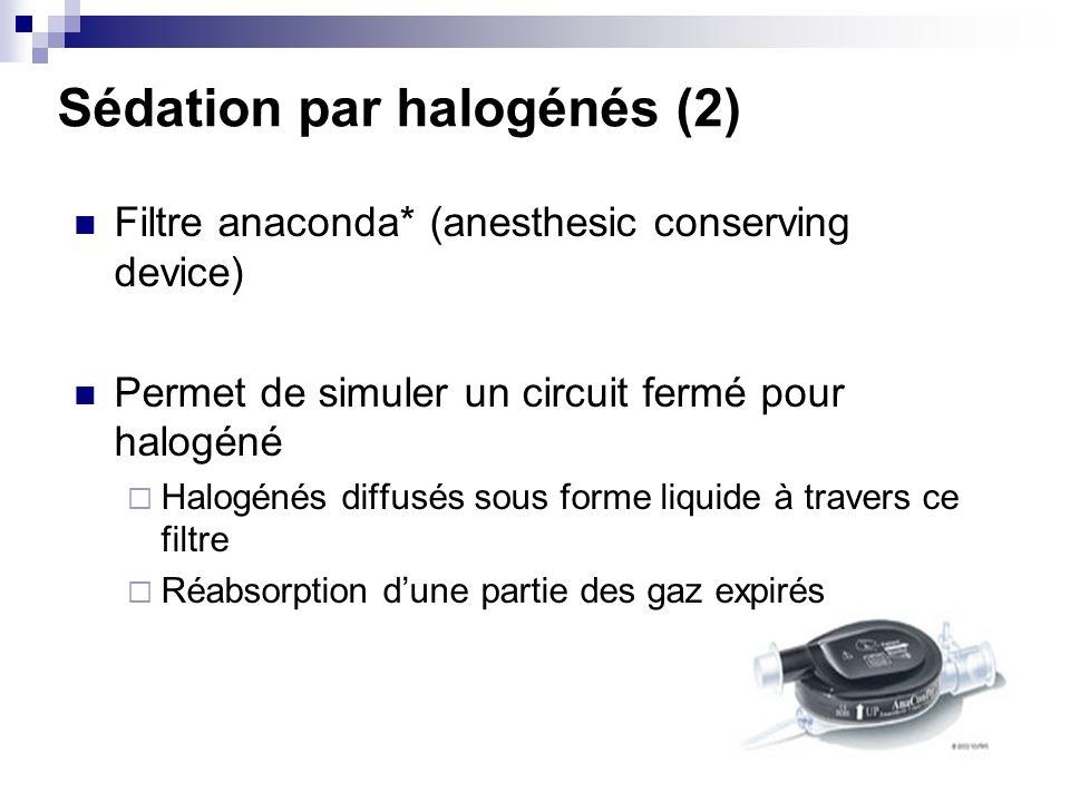 Sédation par halogénés (2)