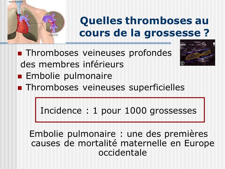 Quelles thromboses au cours de la grossesse