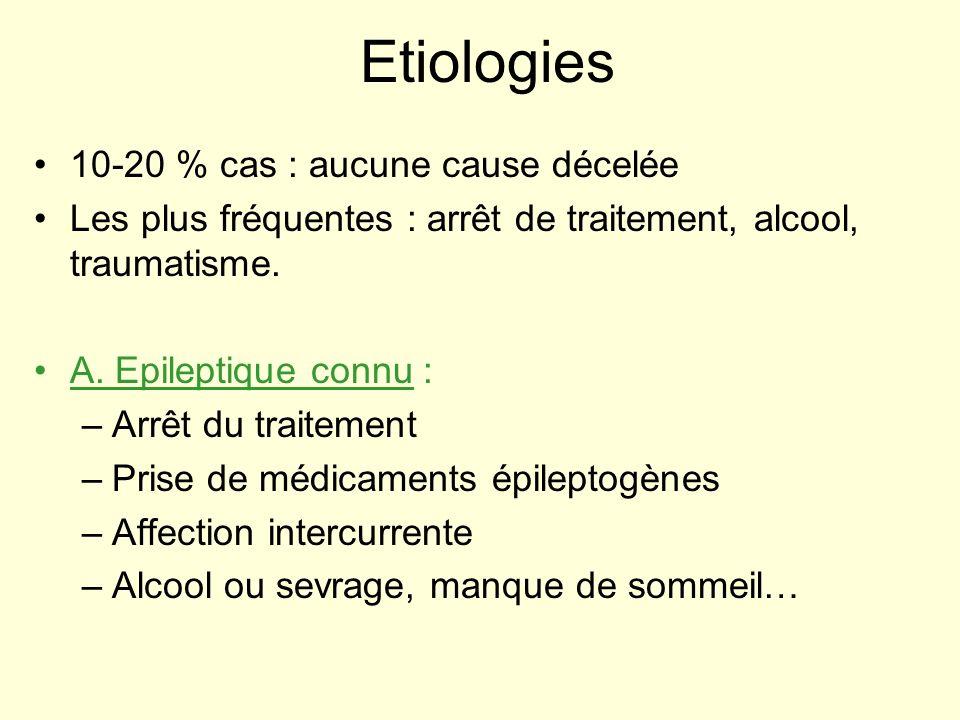 Etiologies 10-20 % cas : aucune cause décelée