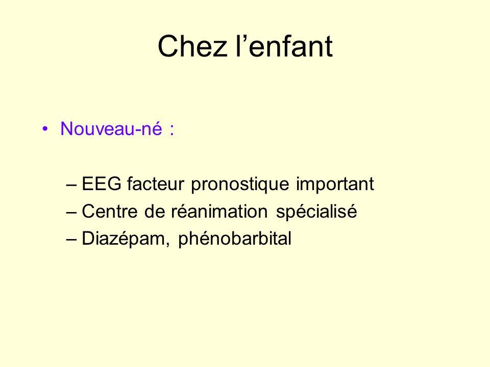 Chez l'enfant Nouveau-né : EEG facteur pronostique important