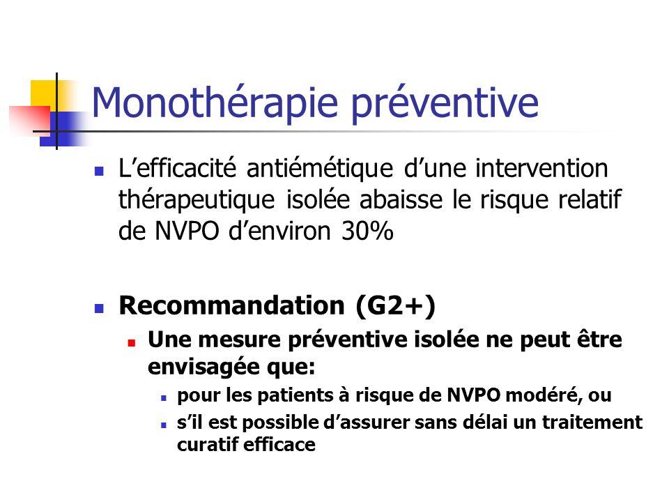 Monothérapie préventive
