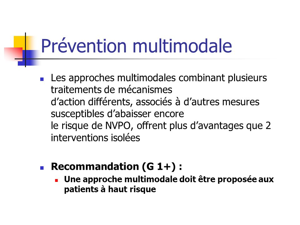 Prévention multimodale