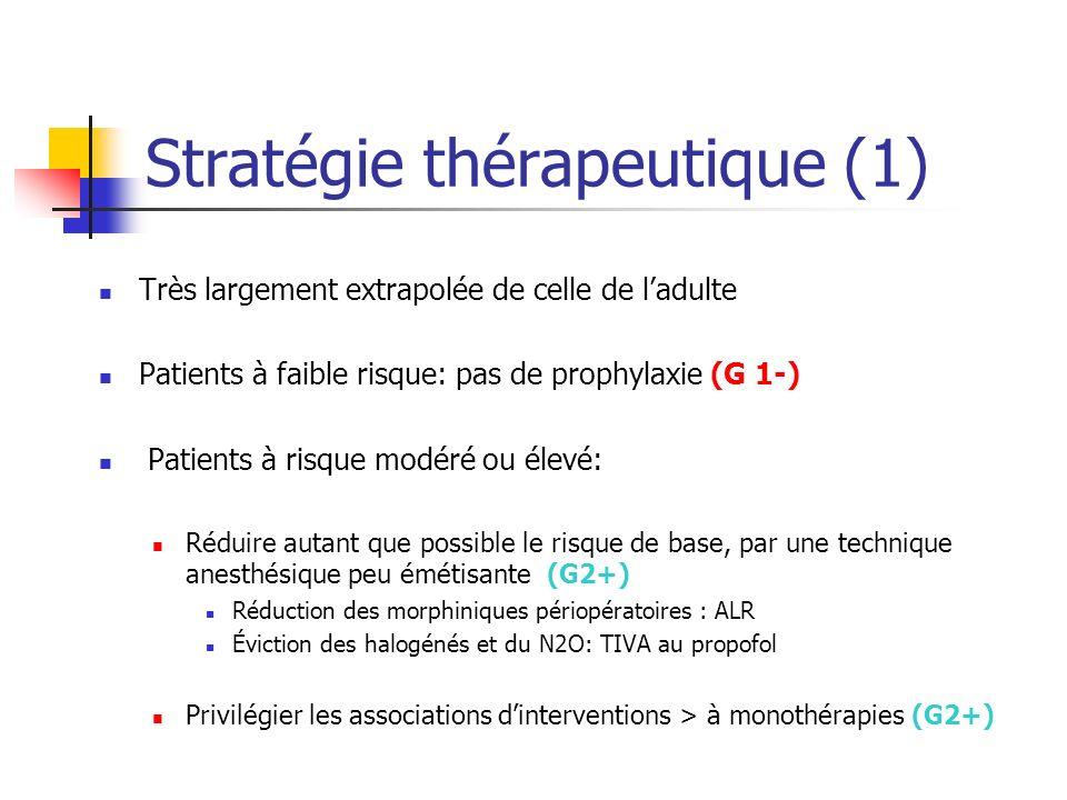 Stratégie thérapeutique (1)