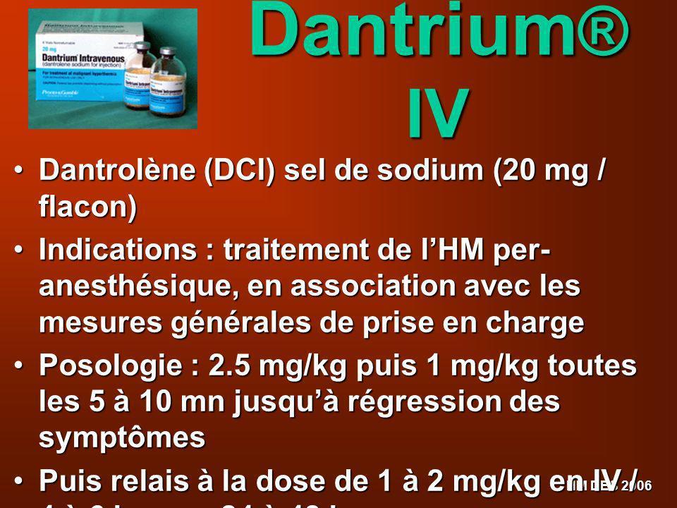 Dantrium® IV Dantrolène (DCI) sel de sodium (20 mg / flacon)