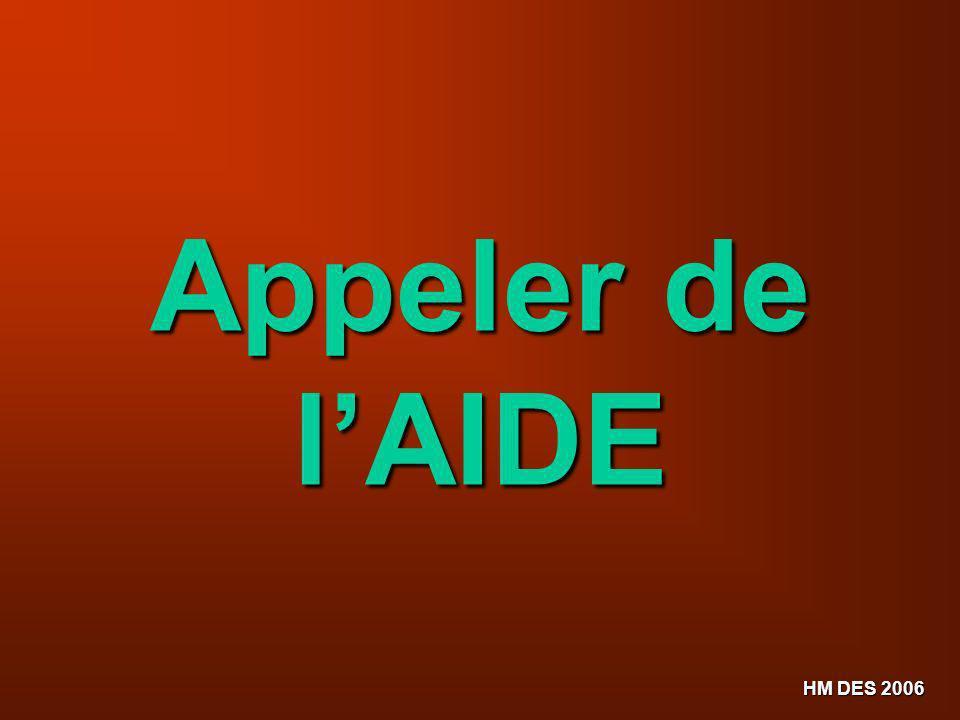 Appeler de l'AIDE HM DES 2006