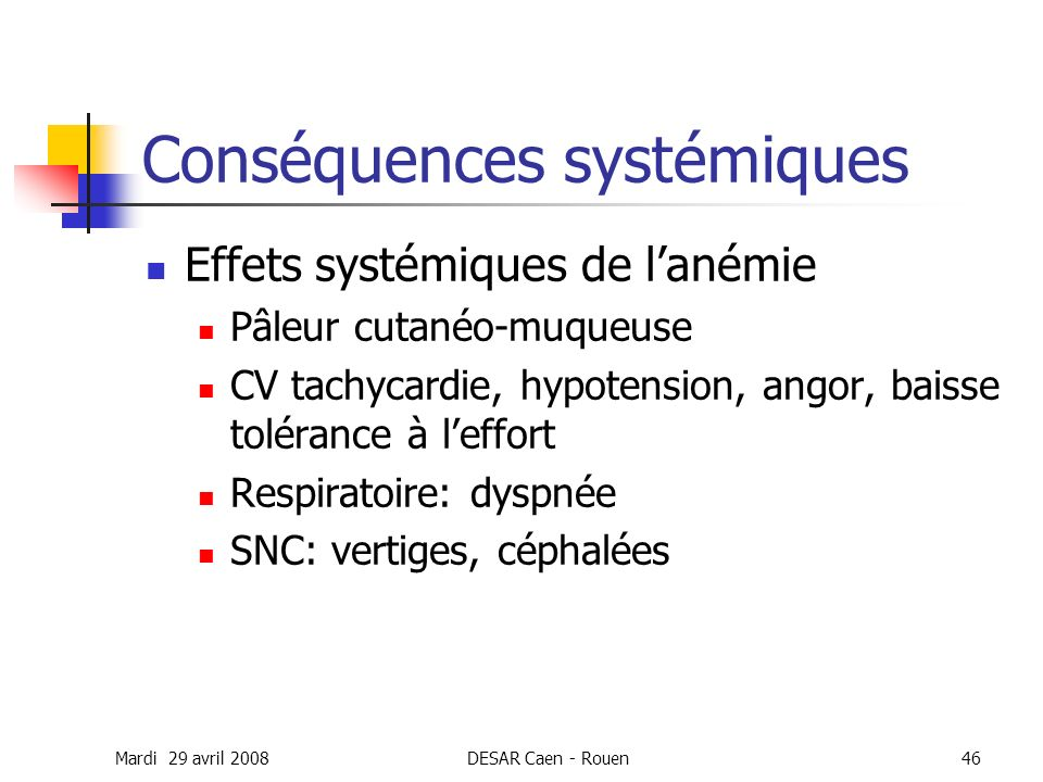 Conséquences systémiques