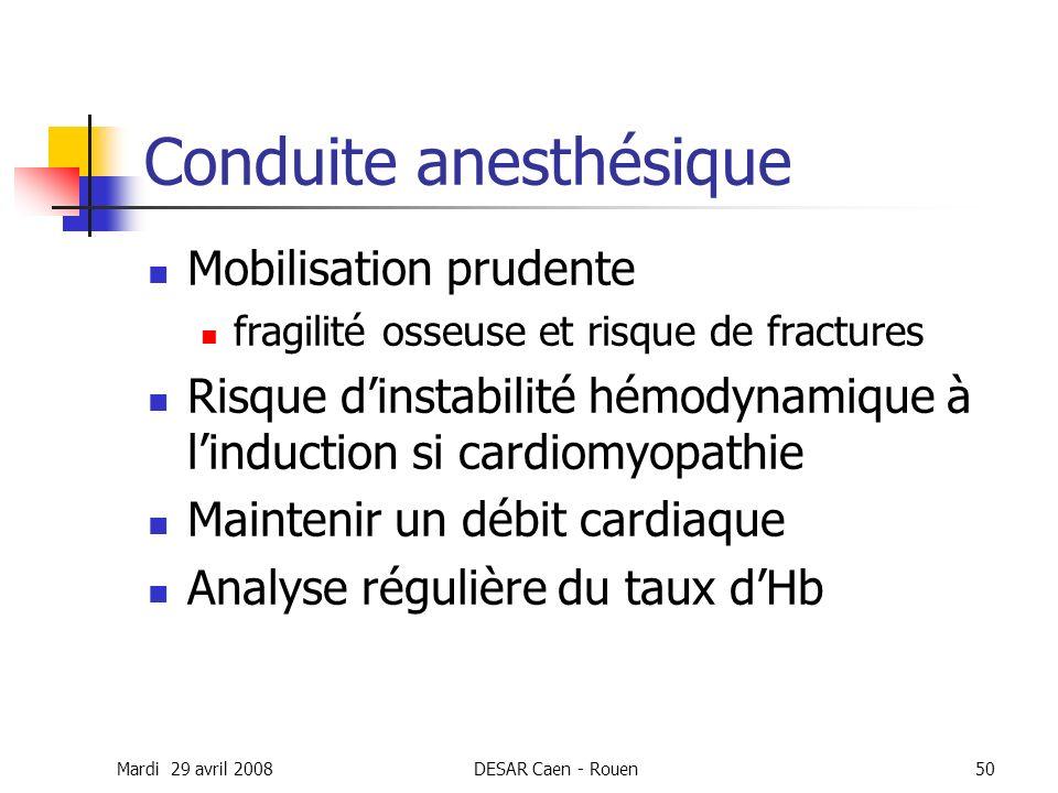 Conduite anesthésique