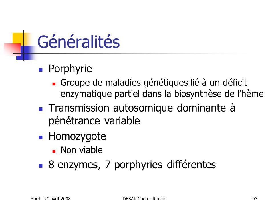 Généralités Porphyrie