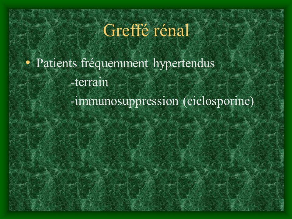 Greffé rénal Patients fréquemment hypertendus -terrain