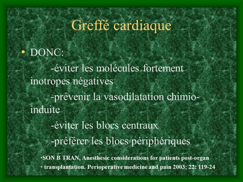 Greffé cardiaque DONC: