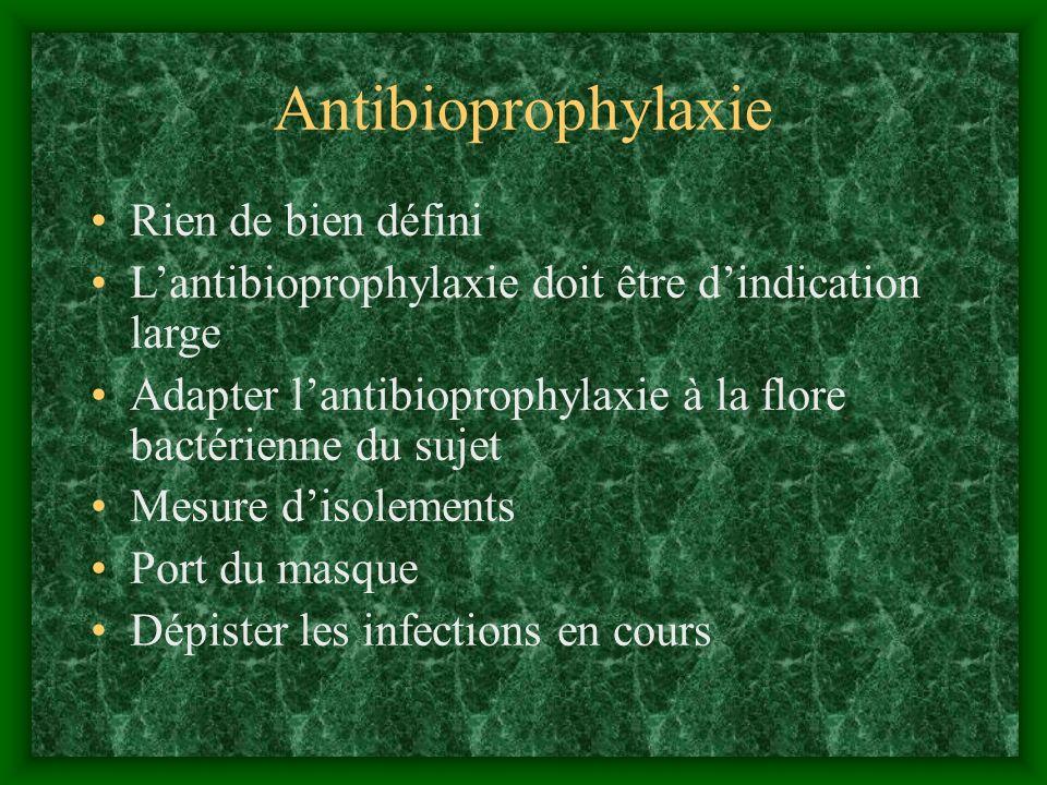 Antibioprophylaxie Rien de bien défini
