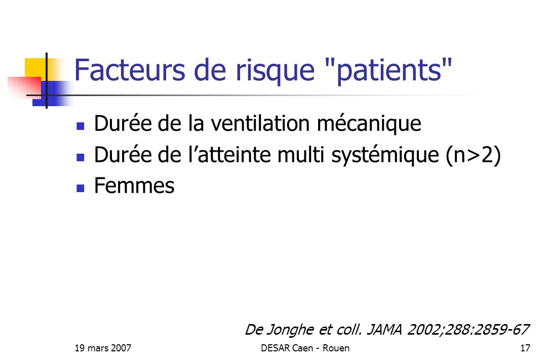 Facteurs de risque patients