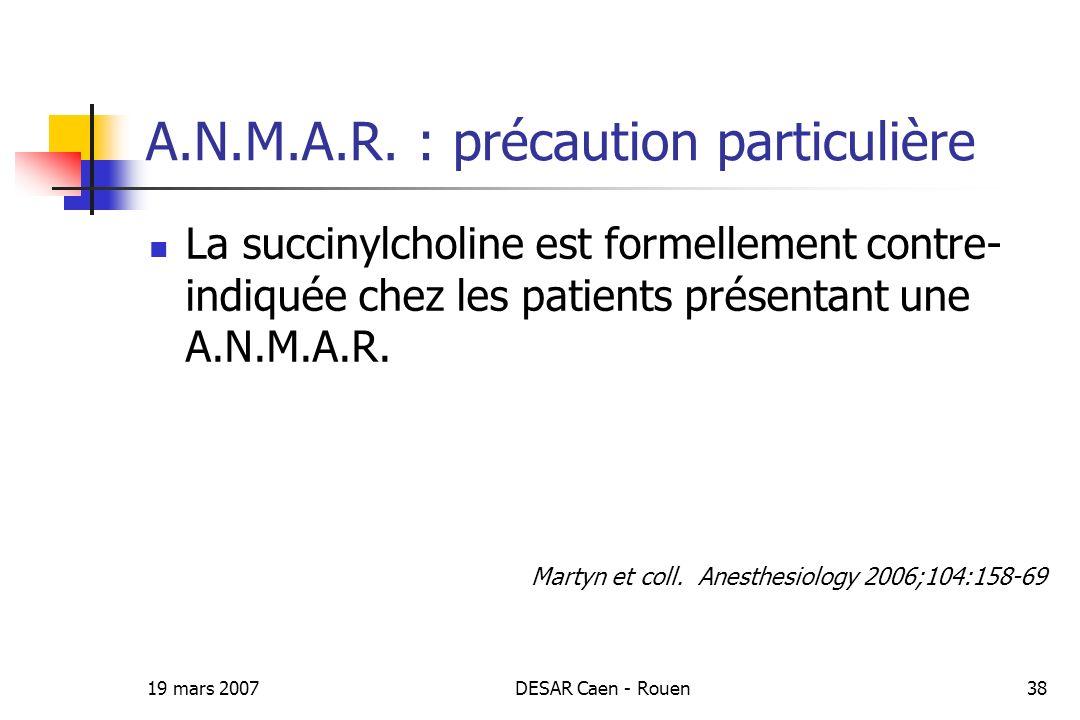 A.N.M.A.R. : précaution particulière