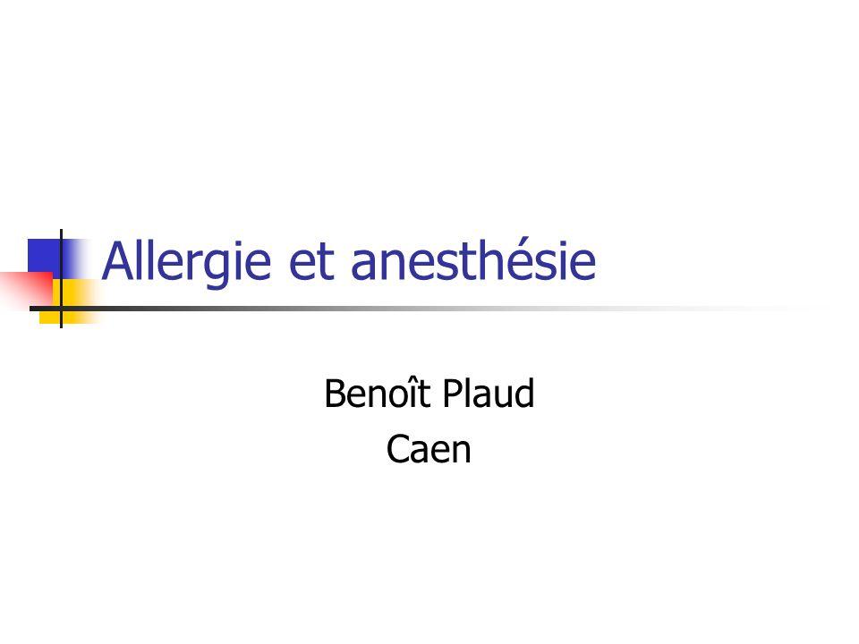 Allergie et anesthésie