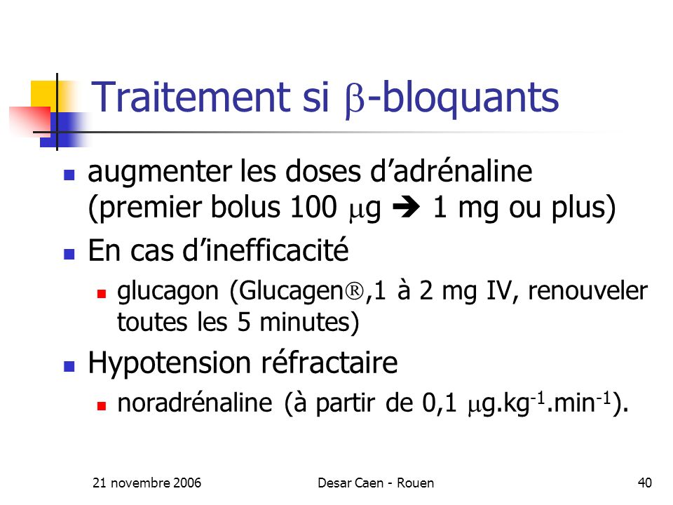 Traitement si -bloquants