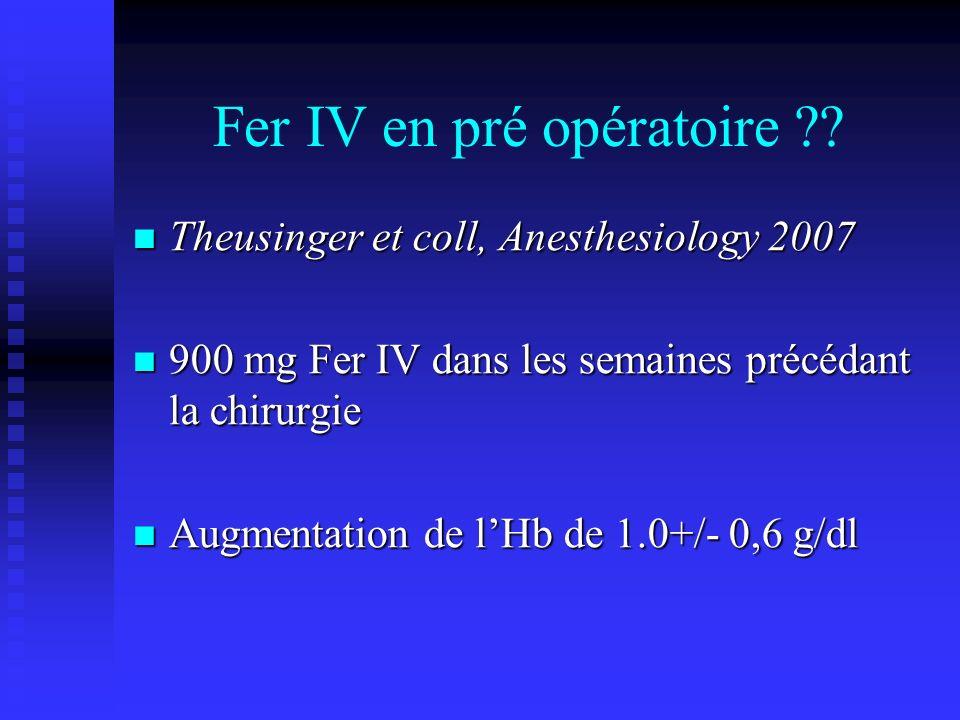 Fer IV en pré opératoire