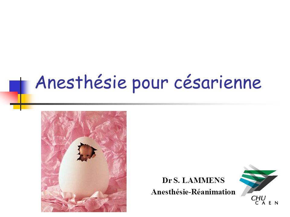 Anesthésie pour césarienne