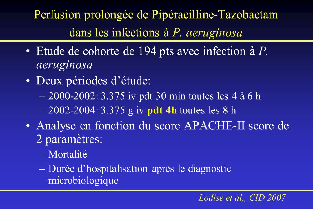 Etude de cohorte de 194 pts avec infection à P. aeruginosa