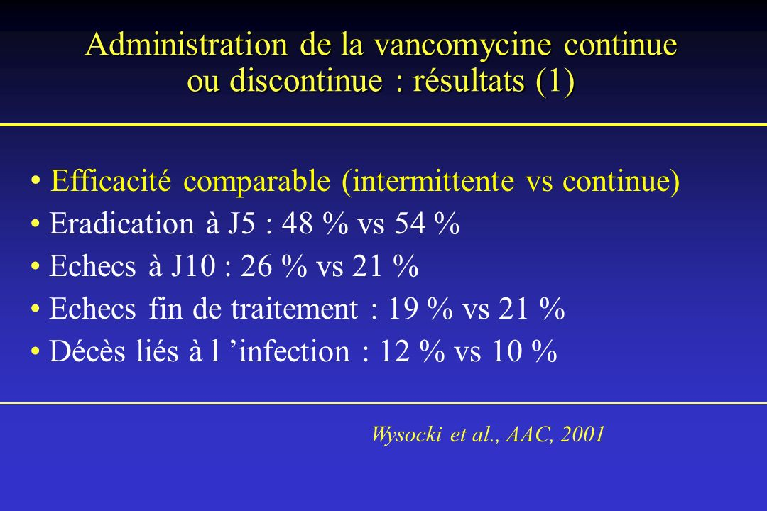 Efficacité comparable (intermittente vs continue)