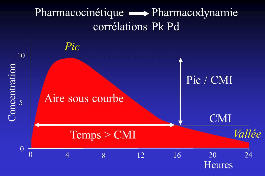 Pharmacocinétique Pharmacodynamie corrélations Pk Pd