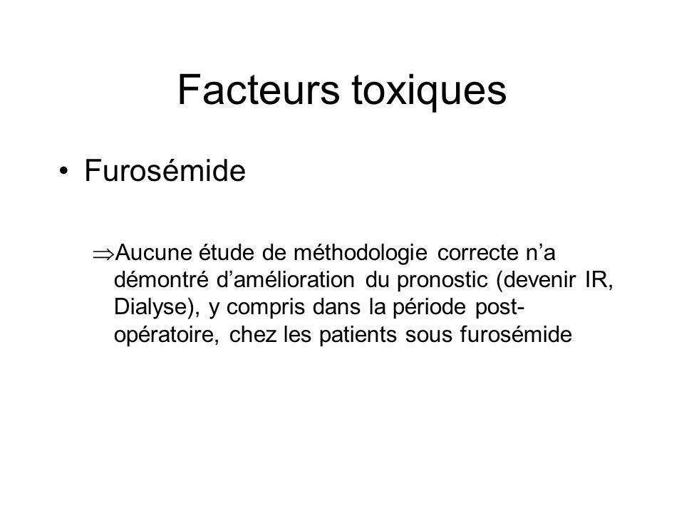 Facteurs toxiques Furosémide