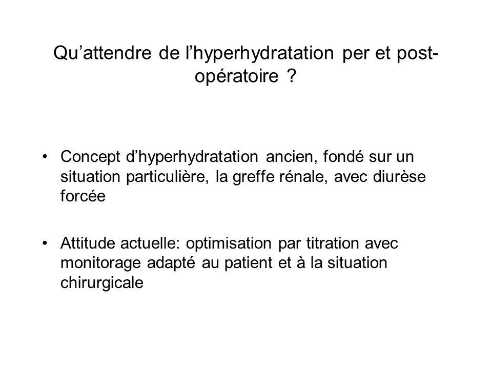 Qu'attendre de l'hyperhydratation per et post-opératoire